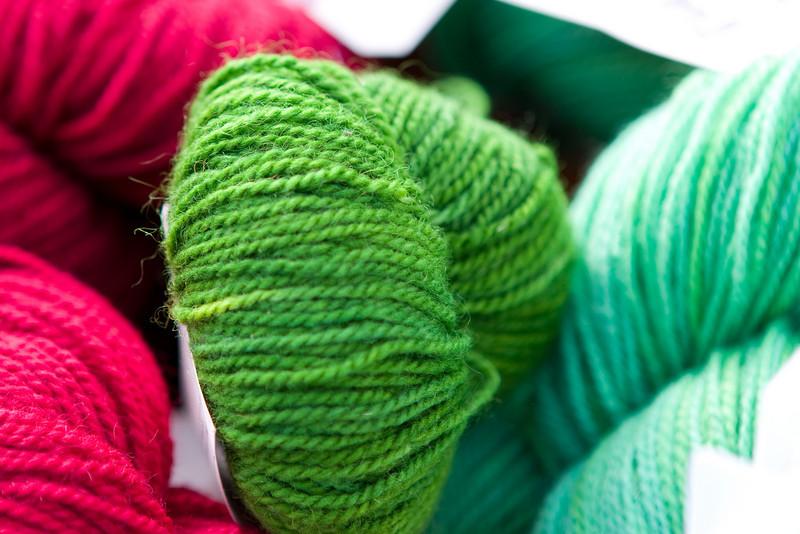 Green yarn.