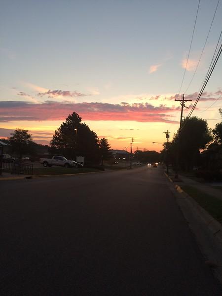 Biked into work today. Nice sunrise