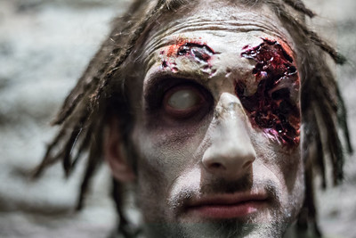 2017 Demented FX Haunted House Holyoke, MA Zombie Headshot Portraits