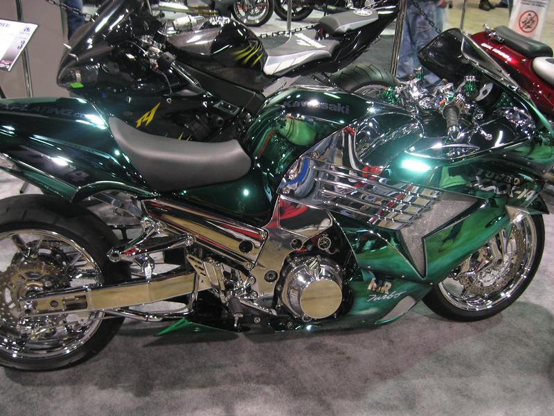 Green Machine' Kawasaki ZX14 custom bike