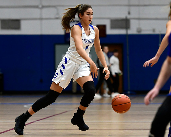 3/5/2020 Mike Orazzi | StaffrGlastonbury's Rachel Roman (1) during the Class LL Second Round of the CIAC 2020 State Girls Basketball Tournament at Glastonbury High School on Thursday night.