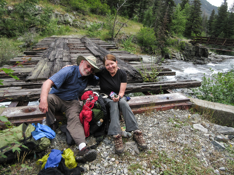 We stopped for lunch near the last (first, if you are going uphill) bridge, and Susie snapped this nice photo of Steve and Kathy.