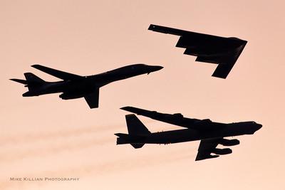 Super Bowl 55 USAF Bombers Flyover
