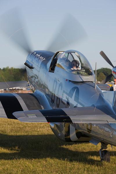 P-51 Mustang warming up at EAA AirVenture 2009.