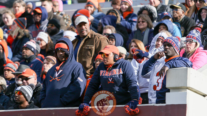 Virginia fans watch as their team goes down big early in the game. (Mark Umansky/TheKeyPlay.com)