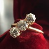 1.38ctw Antique Old European Cut Diamond 3-Stone Ring 2