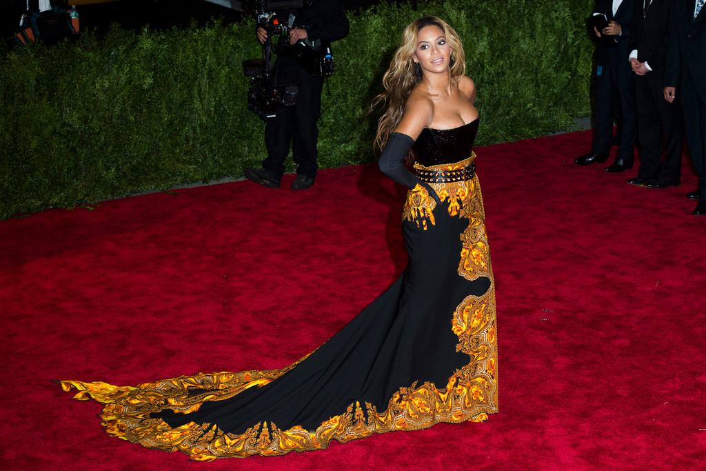 """. Beyonce attends The Metropolitan Museum of Art\'s Costume Institute benefit celebrating \""""PUNK: Chaos to Couture\"""" on Monday, May 6, 2013 in New York. (Photo by Charles Sykes/Invision/AP)"""