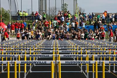 D4 Girls 100 Hurdles - 2013 MHSAA LP D4 Track and Field Finals