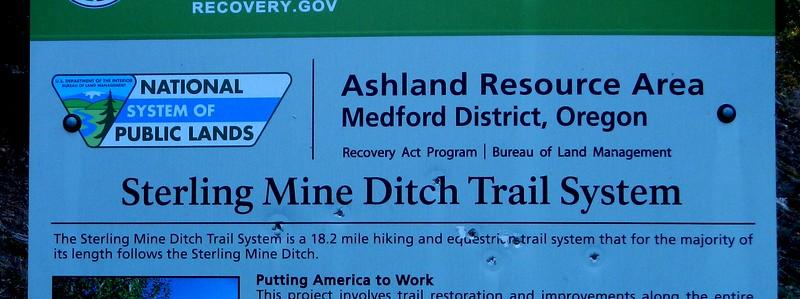Sterling Mine Ditch Trail Oregon
