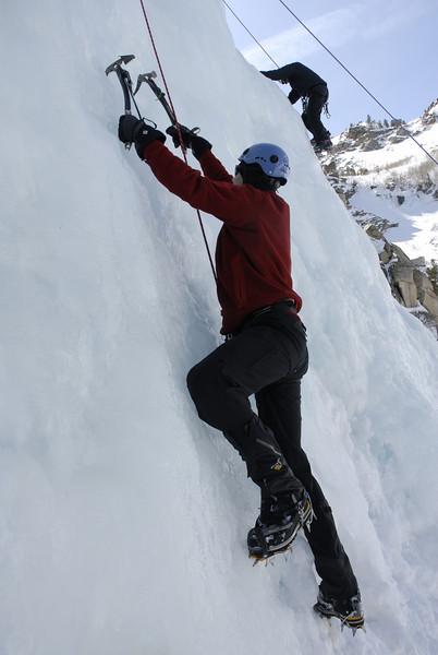 Ice Climbing Lee Vining Cyn March 14, 2009