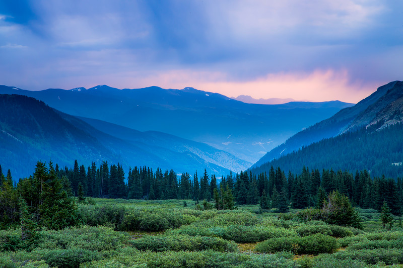Dusk over Guanella Pass