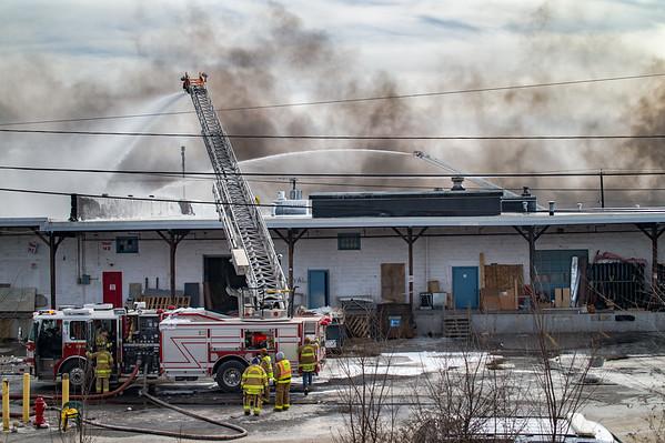 Hillsborough FD Battles Massive Warehouse Fire