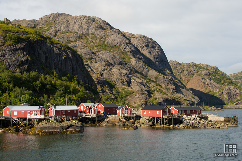 Cabins at the Nusfjord fishing village