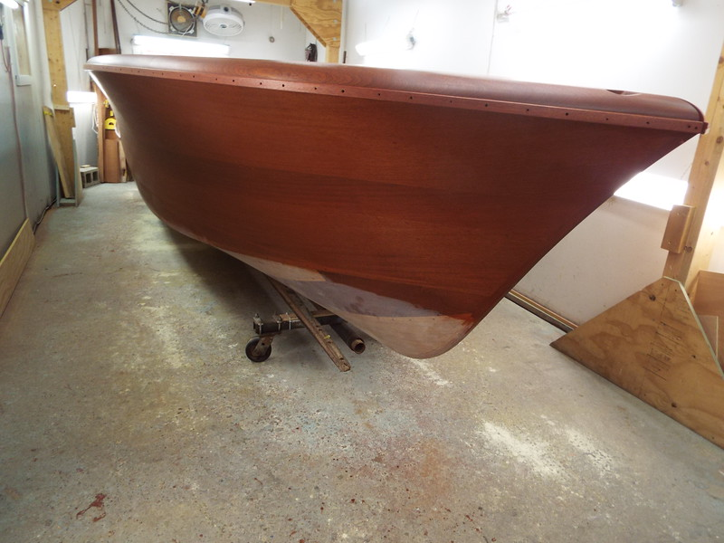 Starboard side with stain applied.