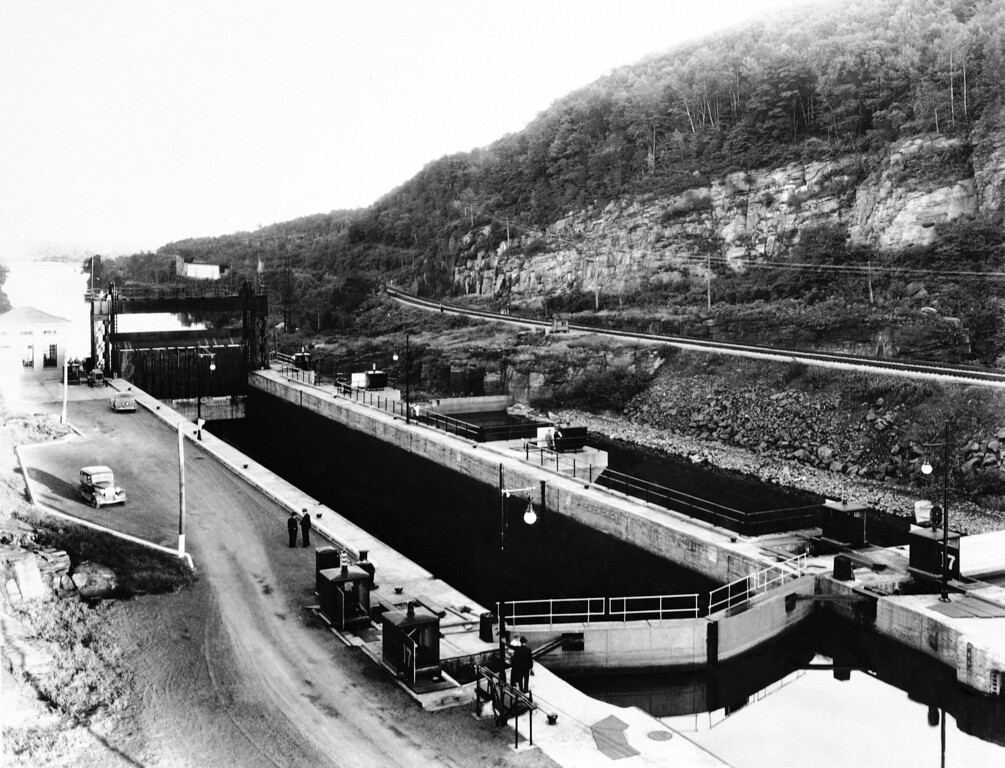 . This is Lock 17 in Little Falls, N.Y., as shown Oct. 18, 1931.  It is the highest in the U. S. (AP Photo)