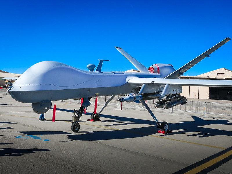 MQ-9 Reaper Drone Carrying Hellfire Missiles