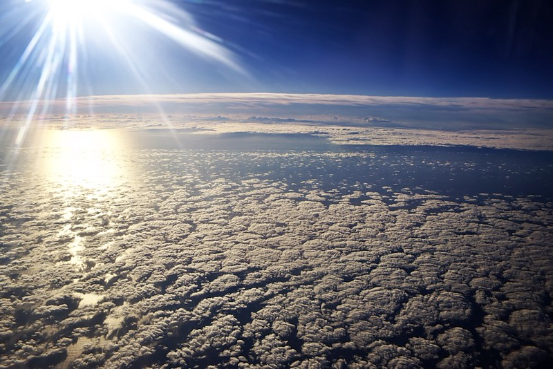 Krásná oblačnost nad Atlantikem