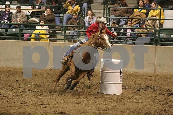 Tri-State Rodeo Barrel Race 02/03/2006