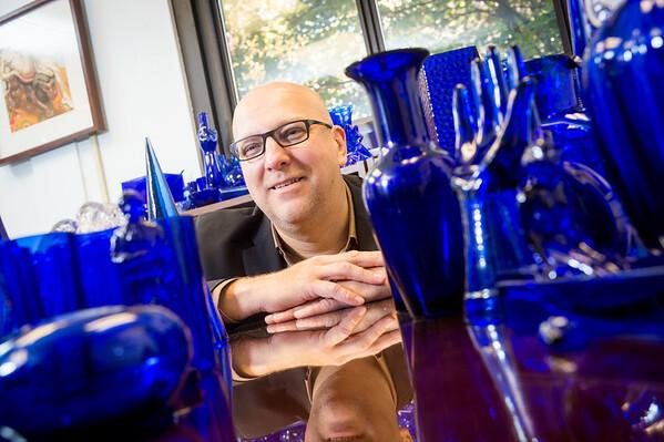 William Ganis blue glass 2014