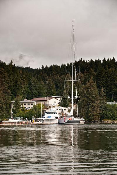 Big yacht at Auke Bay.