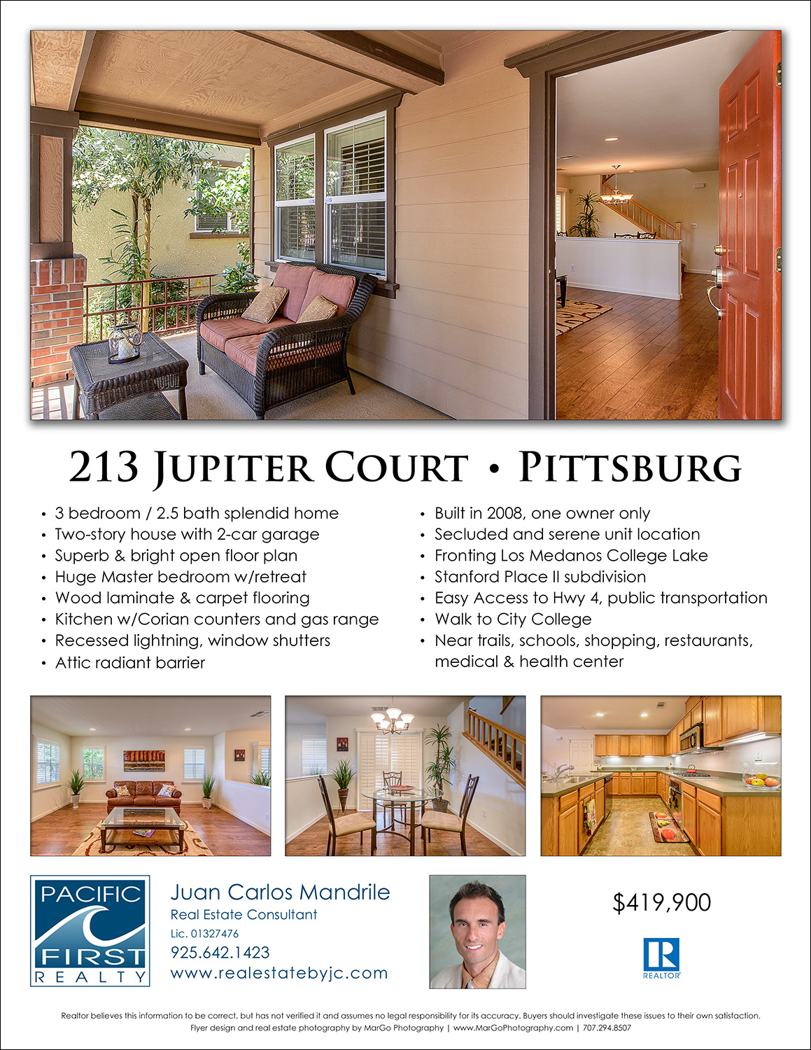front page of real estate flyer