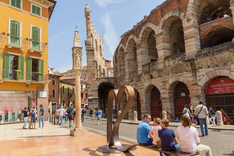 Verona's Piazza Bra and the Amphitheater
