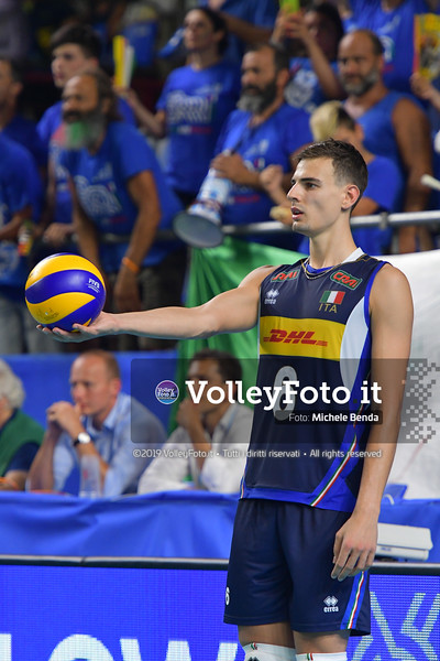 ITALIA vs SERBIA, 2019 FIVB Intercontinental Olympic Qualification Tournament - Men's Pool C IT, 11 agosto 2019. Foto: Michele Benda per VolleyFoto.it [riferimento file: 2019-08-11/ND5_7259]