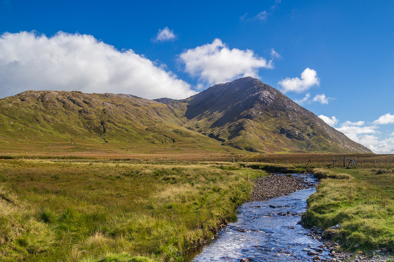 Maumturk Mountains from the Inagh Valley