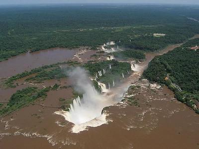 over Iguazu Falls