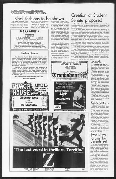 Daily Trojan, Vol. 61, No. 124, May 13, 1970