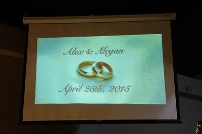 Alex & Megan Wedding Day - April 25th, 2015