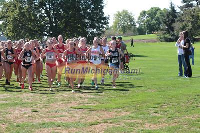 College Women Half Mile Mark - 2012 Spartan Invitational