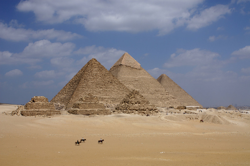 First must-see while in Egypt - the pyramids of Gizeh