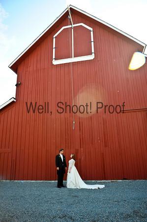 Bride and Groom Pickering Barn