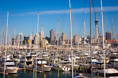 Westhaven yachting marina in Auckland, New Zealand