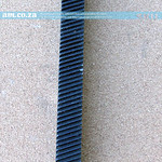 SKU: AM-RACK/R/125, 1.25 Modulus Helical Teeth Gear Rack ~200mm (Reverse Angle) for Installation Positioning