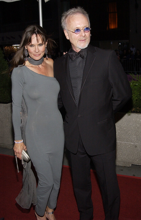 """. \""""\'Port Charles\'\' actress Lynn Herring and \'\'General Hospital\'\' actor Anthony Geary arrive on May 17, 2002 for the 29th Annual Daytime Emmy Awards at Madison Square Gardens\'\' Theater in New York City. (Photo by Lawrence Lucier/Getty Images)"""