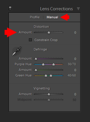 Manual Lens Correction in Lightroom