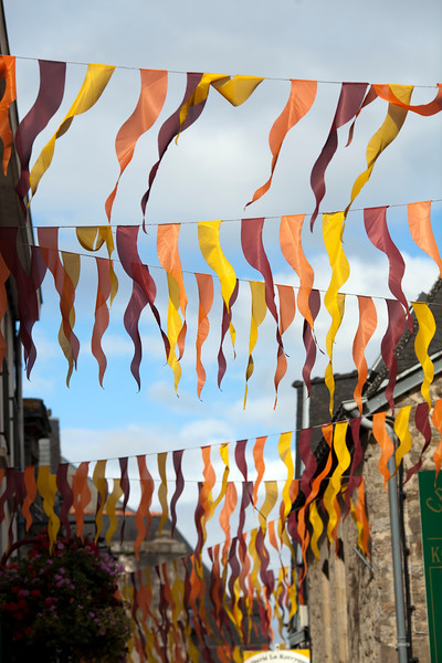 Celebration flags, town of Auray, departement of Morbihan, Brittany, France