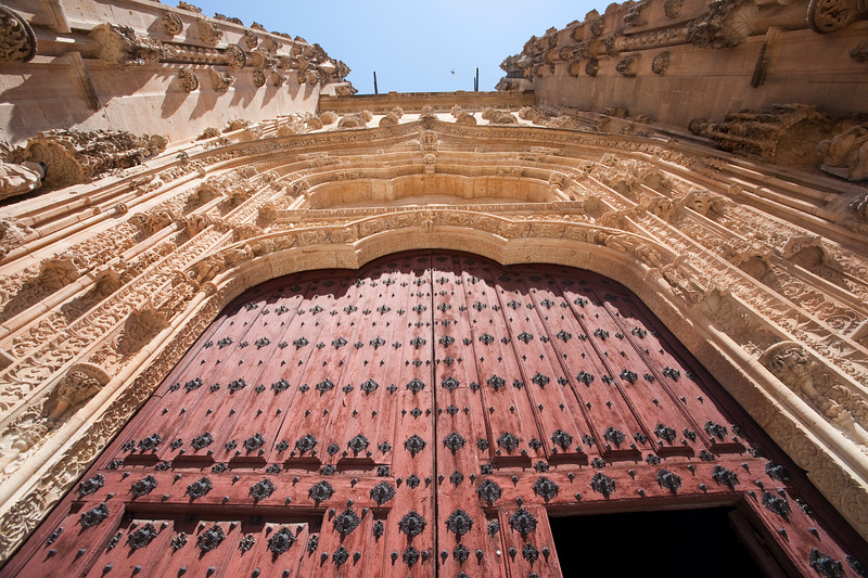 South entrance, New Cathedral, town of Salamanca, autonomous community of Castilla and Leon, Spain