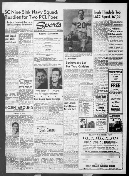 Daily Trojan, Vol. 45, No. 98, March 22, 1954