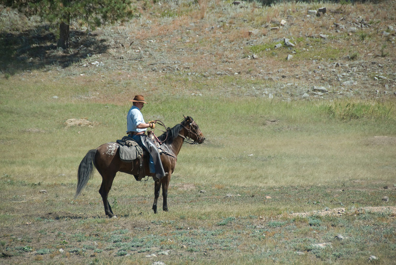 Horse back rider in Black Hills, South Dakota