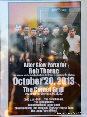 After Glow Party for Rob Thorne @ Comet Grill, Charlotte, NC  10-20-13