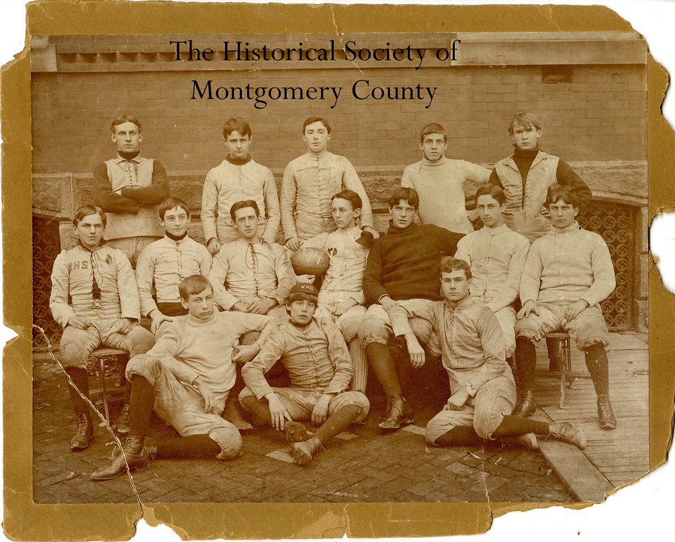 . This photo from the Historical Society of Montgomery County shows Norristown High School\'s 1894 football team.
