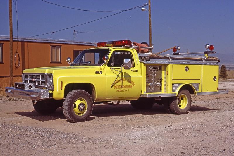 First Highlands Ranch Fire Engine