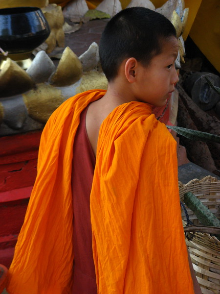 Novice monk at Wieng Khum Kham