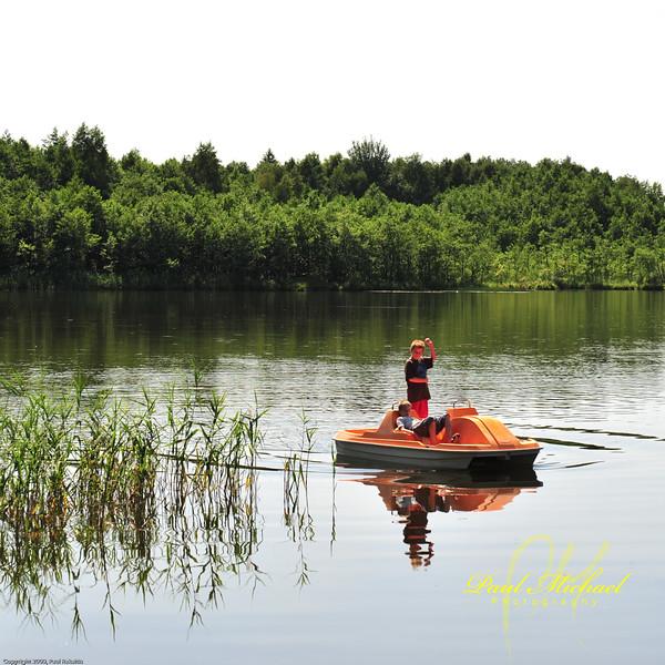 Paddle boat rides.