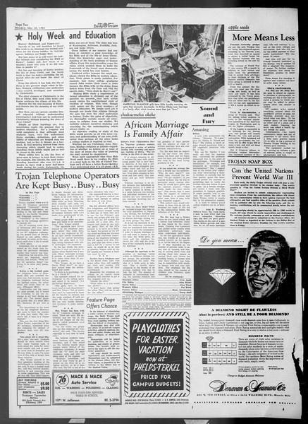 Daily Trojan, Vol. 44, No. 100, March 23, 1953