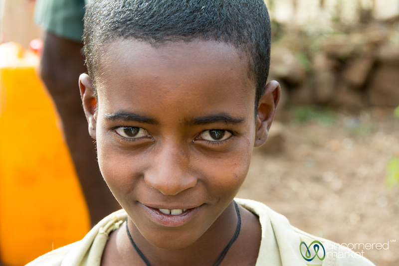 Young Ethiopian Girl at the Water Pump
