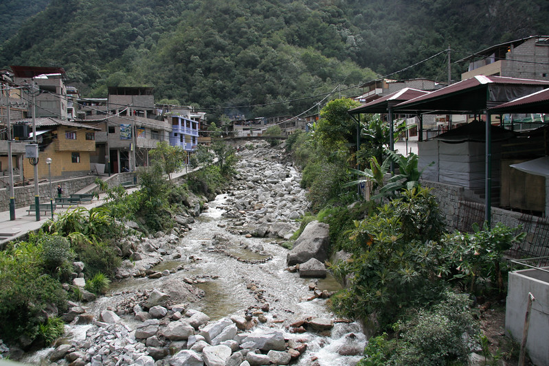 The river that runs through the middle of Aguas Calientes. Unfortunately the town wasn't all that attractive due to the explosion of haphazard tourist growth and litter in the river.